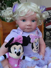 "Reborn 22"" Toddler/baby girl doll ""Emily"" w.Minnie Mouse!  LOOK!-2 wks"