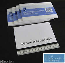100 Blank white postcards competition entry card plain correspondence 87 x 139mm