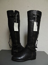 UGG COLLECTION NICOLETTA WEAVE OVER THE KNEE BLACK LEATHER BOOTS, US 11/ 42 ~NIB