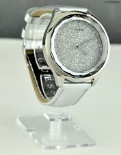NWT Limited Pristine Ladies Watch GUESS Silver Leather Steel New U0652L1