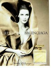 PUBLICITE ADVERTISING 126  1998   parfum femme Cristobal par Balenciaga