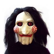 Saw Movie Jigsaw Full Head Mask Latex Halloween Costume Scary Prank