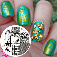 BORN PRETTY Nail Art Stamping Plate Ocean Theme Image Stamp Template  #23