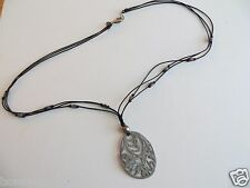 "SILPADA HAMMERED Oxidised  STERLING SILVER 22"" NECKLACE NEW!"