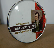 vintage Mackies Ayrshire Shortbread tin 1960's 18.5cm diameter.