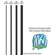 "1/4"" Wide SOLID PINSTRIPES / CARBON FIBER BLACK / Premium 3M Wrap Vinyl Stripes"