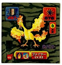 POKEMON STICKER Carte JAPANESE 50X50 1997 GOLD N° 408 SULFURA MOLTRES