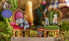 Mini World Cat Mouse Armchair Figurines Alice in Wonderland Miniatures