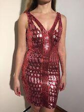 BEBE Addiction sexy pink sequin bodycon dress, size XXS. FREE SHIPPING!!!