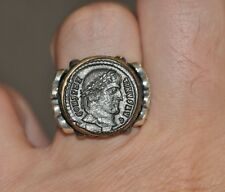 Constantine the Great Authentic Roman Coin 925 Sterling Silver Ring Sz 10.5