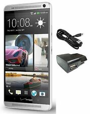 HTC One Max 32GB AT&T T-Mobile  GSM ONLY UNLOCKED Cell Phone Silver (A+)