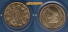 Médaille - Ecu Europa - 1992 - Doré - 41 mm 31 Grammes Sous capsule