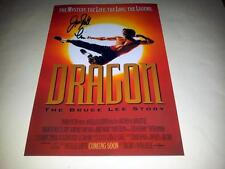 "DRAGON : THE BRUCE LEE STORY PP SIGNED 12""X8"" POSTER JASON SCOTT LEE"