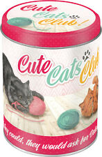 Cute Cats club lata de existencias lata aproximadamente lata Tin Box
