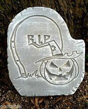 RIP pumpkin face  tombstone concrete mold plaster mold.. plastic mold mould