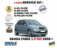 FOR SKODA FABIA 1.9 SDi 01/2000-->NEW  OIL AIR FUEL POLLEN 4 FILTER SERVICE KIT