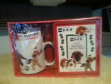 THE DOG  ARTIST COLLECTION COCA COFFEE CUP MUG PICTURE FRAME GIFT SET