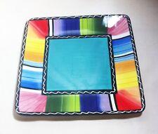 "Certified International Serape Square Stripe 9"" Plate Nancy Green"
