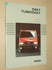 Catalogue Camion IVECO Turbo Daily 1990  prospectus brochure prospekt LKW truck