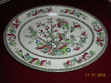 Johnson Brothers Indian Tree Platter Oval Serving Green Key Cream 12 in. Vintage