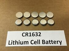 Set of 10: New Lithium CR1632 3V Keyless Entry Remote Coin Battery FREE TRACKING