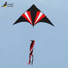 NEW 1.5m 59in Spinner Tail Triangle /Delta RED Kite Outdoor Sports Children toy