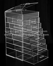 ACRYLIC LUCITE CLEAR CUBE MAKEUP ORGANIZER 7 Drawers Plus Lid