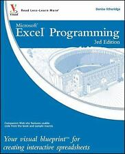 Excel Programming: Your visual blueprint for creating interactive spreadsheets,