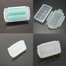 2X Hard Plastic Case Waterproof 18650/16340/CR123A Battery Holder Storage Box WJ