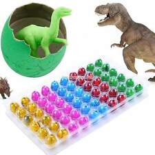 60PCS Hatching Growing Dinosaur Eggs Add Water Magic Dino Egg Babies Kids Toy