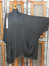Barbara Speer ausgefallenes leichtes Oversize Shirt in anthra old look NEU!!