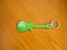 ROLLING ROCK BEER TOWN FAIR GUITAR BOTTLE OPENER KEYCHAIN ,MAN CAVE ROCK & ROLL