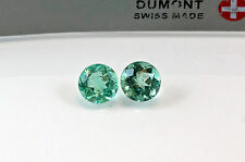 6mm Round Matched Pair Natural Colombian Emeralds Loose Gemstones