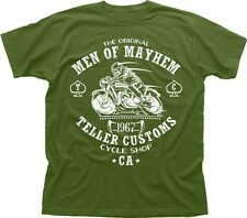Original SAMCRO MEN OF MAYHEM TELLER CUSTOMS Motorcycle Harley t-shirt 9621