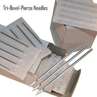 50 Sterile Body Piercing Needles 10G,12G,13G,14G,15G,16G,18G,20G Navel Ear Nose