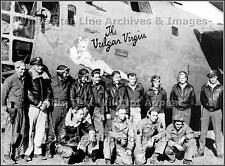 Poster Print: Nose Art: The Vulgar Virgin With Crew: B-24-D, 9th Air Force, WWII