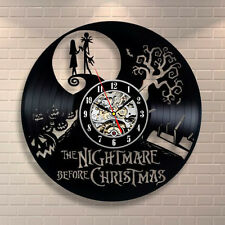 The Nightmare Before Christmas Gift Wall Clock Home Decor Art Vinyl Record