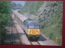 POSTCARD CLASS 56 LOCO NO 56 059 WITH A LOAD OF AGGREGATE HOPPERS