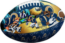 **LOOK** NFL St.Louis Rams  NEW Rush Zone Football Pillow  (FREE SHIPPING)