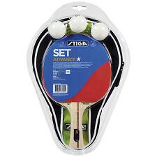 Table Tennis Bat: Stiga Advanced Set 1 x Bat, 3 Balls & Case