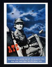 WW ll ~ WOMEN FOR THE FIRE SERVICE ~ Government War Poster  ~ Art Repro. Card