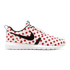 Nike Roshe Run QS Sz 10 White Black Action Red Valentines POLKA PACK 810857 106