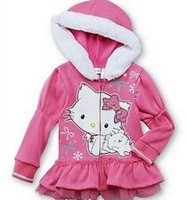 Charmmy Kitty Pink Jacket Girl's size 4T NeW Hood Zip-Up Hoodie Hello Kitty NWT