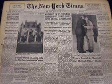 1947 MAY 11 NEW YORK TIMES - FRANCE AWARDS TO CHURCHILL MILITARY MEDAL - NT 73