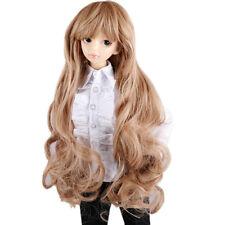 """[wamami] New Brown Long Wavy Wig For 1/3 SD AOD DOD DZ BJD Dollfie ,length 8""""-9"""""""