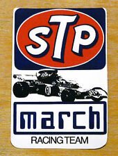 STP March Formula 1 Racing Team Race Motorsport Sticker / Decal