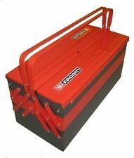 FACOM TOOLS RED GREY BLACK METAL TOOLBOX  5 TRAYS 475mm LENGTH