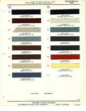 1952 LINCOLN AND MERCURY PAINT CHIPS (DITZLER)