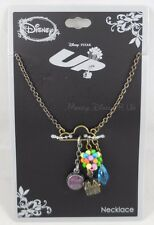 New Disney Up Cloud Charm Cluster Long Necklace Carl's Balloon House Grape Soda