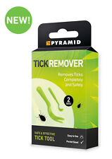Tick Remover Set of 2 Easy To Use Full Instructions Humans or Dogs Lyme Disease